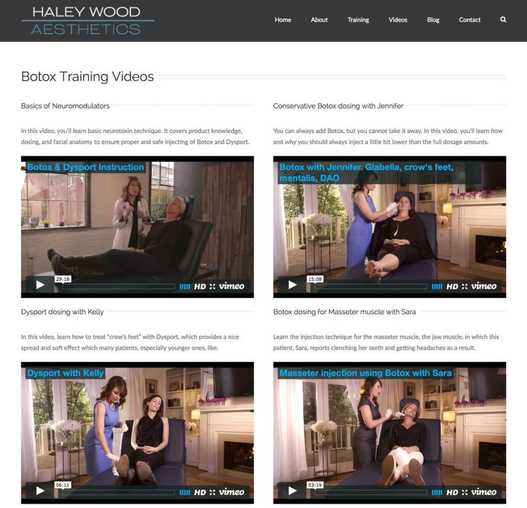 Training Options - Haley Wood Aesthetics