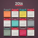 Calendar 2016, week starts on monday, eps 10